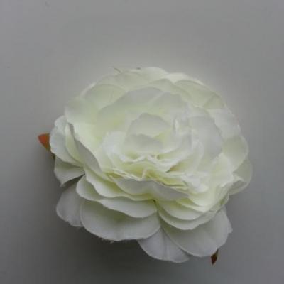 fleur artificielle en tissu de 60mm ivoire