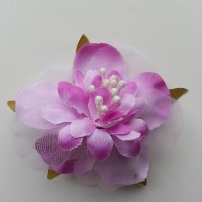 fleur artificielle en tissu et pistils de 60mm violet