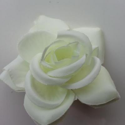 rose artificielle en tissu  de 60mm ivoire