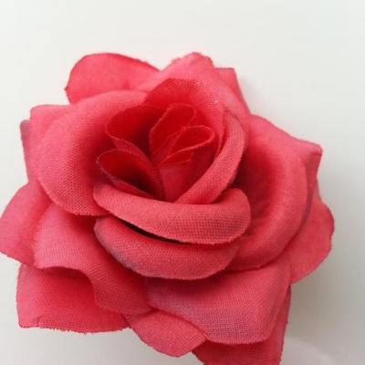 rose artificielle en tissu  de 60mm rouge