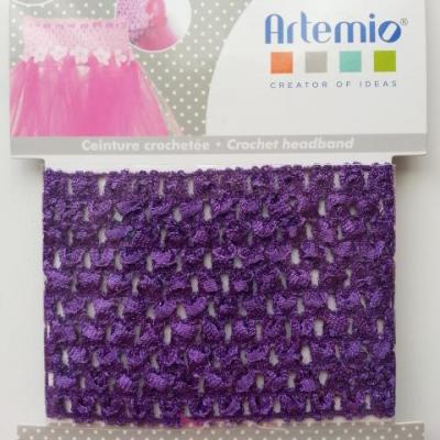 ceinture crochetée pour création de tutu , déguisement violet