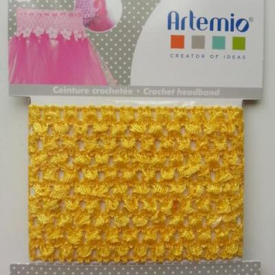 ceinture crochetée pour création de tutu , déguisement jaune