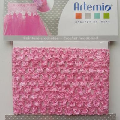 ceinture crochetée pour création de tutu , déguisement rose