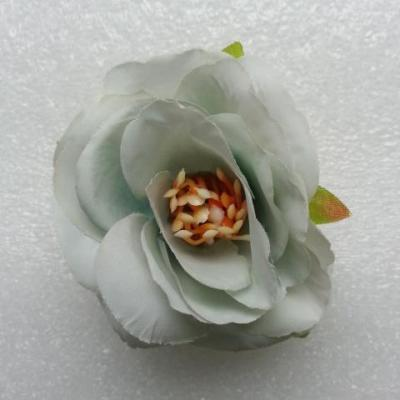 jolie fleur artificielle en tissu de 50mm vert