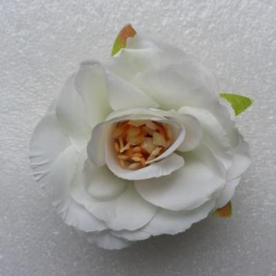 jolie fleur artificielle en tissu de 50mm ivoire