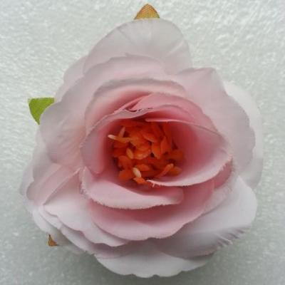 jolie fleur artificielle en tissu de 50mm rose