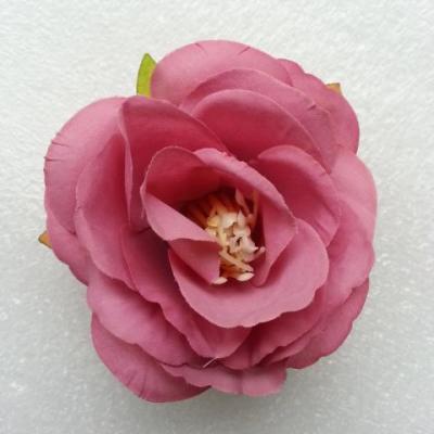 jolie fleur artificielle en tissu de 50mm vieux rose