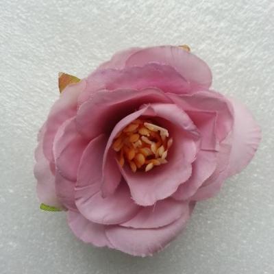 jolie fleur artificielle en tissu de 50mm vieux rose clair