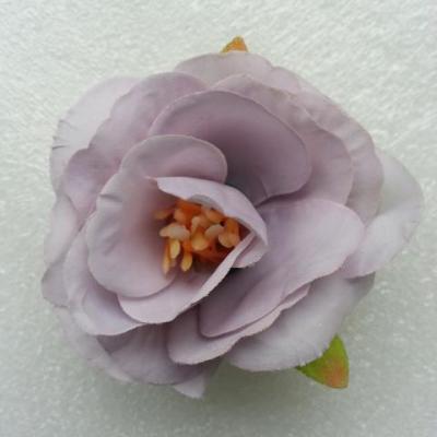 jolie fleur artificielle en tissu de 50mm mauve