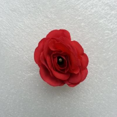 Fleur  en tissu  30mm rouge