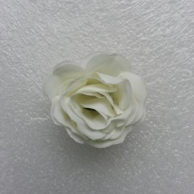 Fleur  en tissu  30mm ivoire