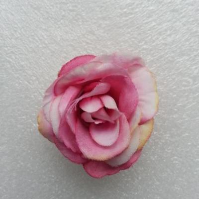 Fleur  en tissu  30mm rose et rose pale