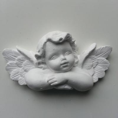 Ange en platre blanc 75*40mm