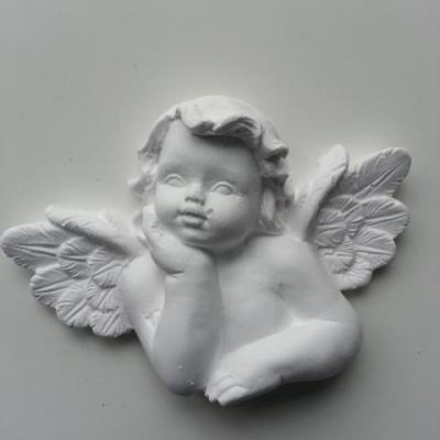Ange en platre blanc 75*55mm