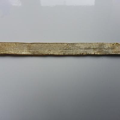 0,96 metre de ruban ajouré doré, or  10mm