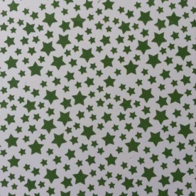Feuille de mousse étoilée 21*29.7cm verte et blanche