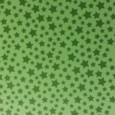 Feuille de mousse étoilée 21*29.7cm verte