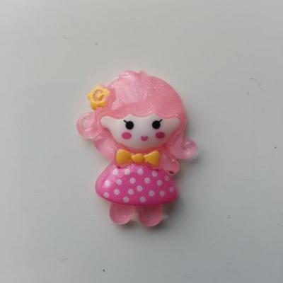 embelissement   petite fille rose pale 20*30mm