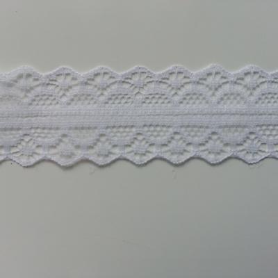 1 mètre de ruban dentelle blanc 28mm