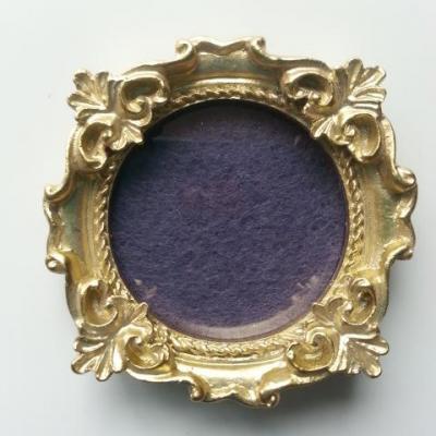 mini cadre en bois doré carré  50mm