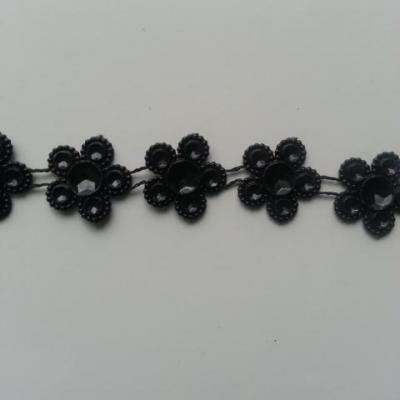 0.5 mètre de ruban cabochon noir 16mm