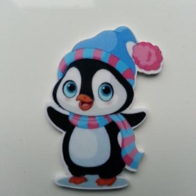 Cabochon plat en résine pingouin noel  46*30mm