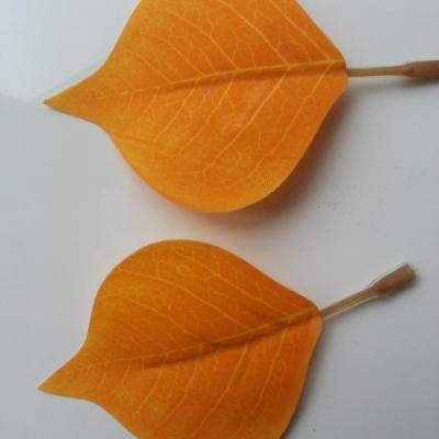 lot de 2 feuilles artificielles 70*55MM orange