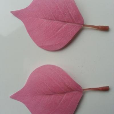 lot de 2 feuilles artificielles 70*55MM rose