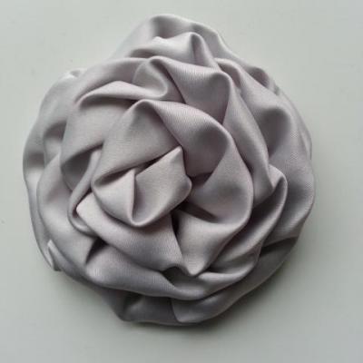 fleur satin chiffon 80mm gris