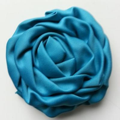 fleur satin chiffon 80mm bleu vert