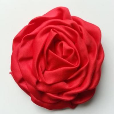 fleur satin chiffon 80mm rouge