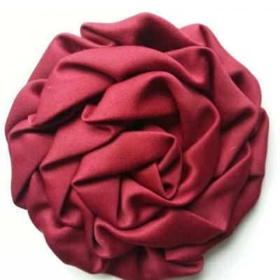 fleur satin chiffon 80mm bordeaux
