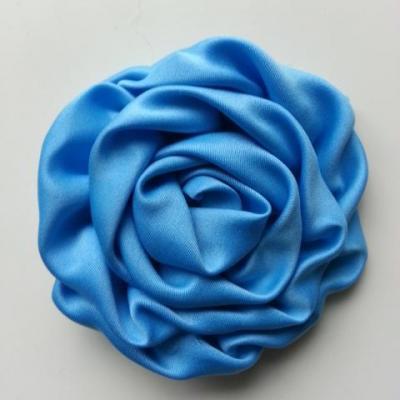 fleur satin chiffon 80mm bleu
