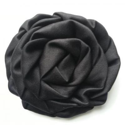 fleur satin chiffon 80mm noir