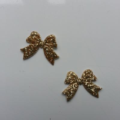 lot de 2 noeuds  en tissu de 20mm doré, or