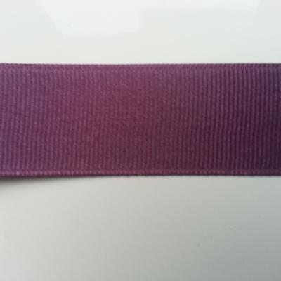 1 mètre de  ruban gros grain  prune   25mm de largeur