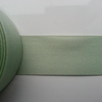 un mètre de ruban tissu vert amande  40mm