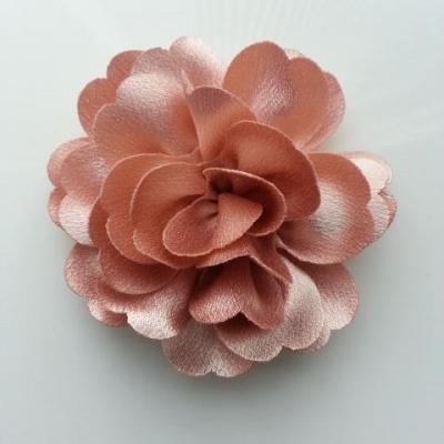 fleur en tissu cristal crêpe satiné  75mm beige