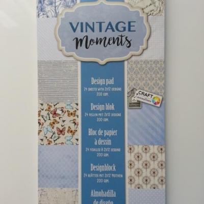 bloc de 24 feuilles de papier 15*30cm dans les tons bleu, ivoire, gris