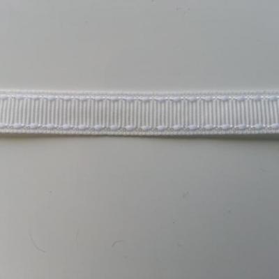 1 mètre de ruban gros grain  blanc 10mm