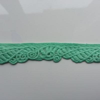 morceau de 45cm de ruban dentelle vert 25mm de large