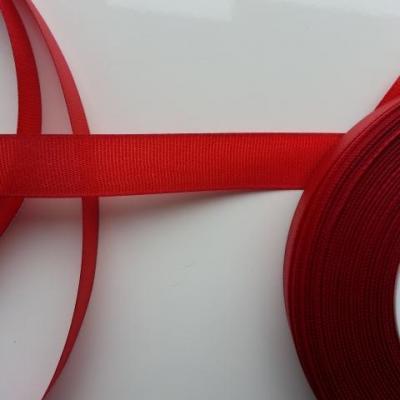 un mètre de ruban polyester rouge bordeaux   15mm