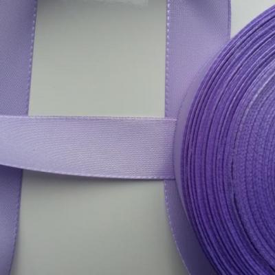 un mètre de ruban polyester mauve  25mm