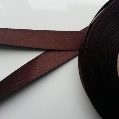 1 metre de ruban  de satin  15 mm marron