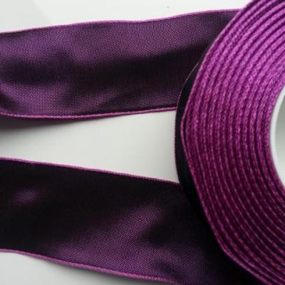 un mètre de ruban polyester violet reflets mauve    40mm