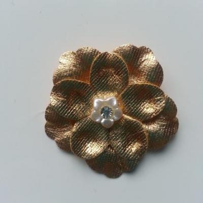 fleur artificielle en tissu doré , or 45mm