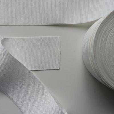 1 mètre de  ruban gros grain  blanc cassé 50mm de largeur