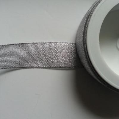 1 metre de ruban  argent métallisé 25mm de largeur