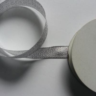 1 metre de ruban  argent métallisé 15mm de largeur
