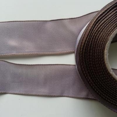 un mètre de ruban polyester marron clair    40mm